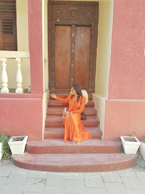 Very breezy orange maxi dress