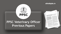 PPSC Veterinary Officer Previous Year Question Papers