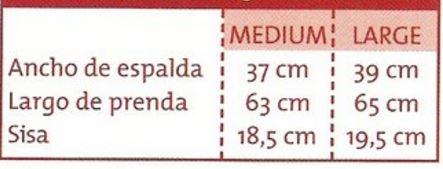 medida de chaleco por talle