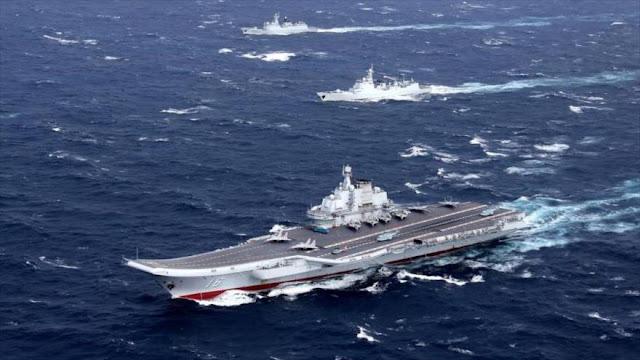 Buques chinos llegan a Golfo Pérsico desafiando presencia de EEUU
