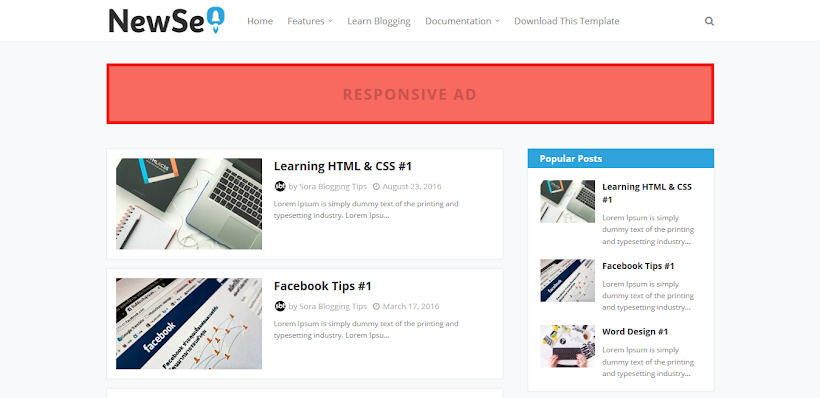 New Seo Free Blogger Template
