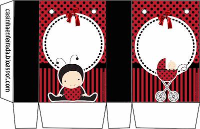 kit festa joaninha chá bebe