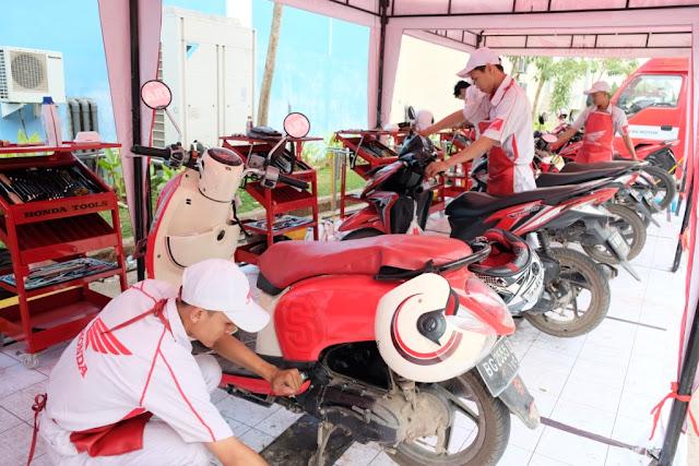 Servis dan Ganti Oli Gratis untuk Pengunjung Honda Sport Motoshow