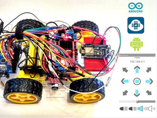 Membuat wifi control arduino robot car