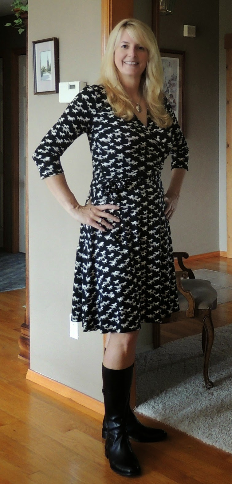 20a182eb0b7 My New Happy  Not a DVF Wrap Dress