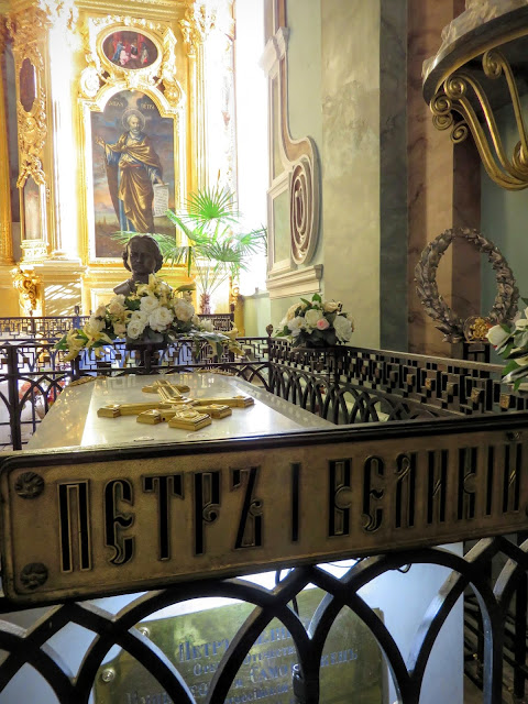 Grave of Peter I at the Peter and Paul Fortress in St. Petersburg, Russia