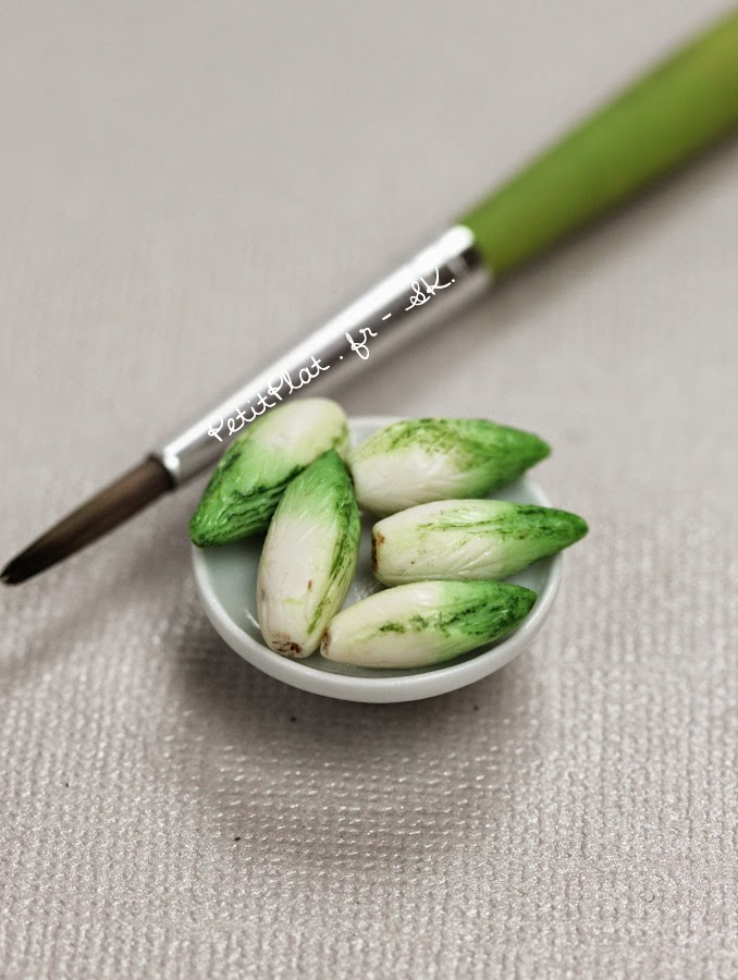 Chicory, Miniature Food Art, Veggies and Fruit by Stephanie Kilgast