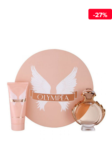 Set cadou Paco Rabanne Olympea (Apa de parfum 80 ml + Lotiune de corp 100 ml), pentru femei
