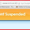 "APES SITUS ICMI ""ACCOUNT SUSPENDED"" KENA HACKER"
