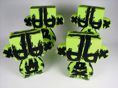 Handstyle Glow in the Dark Green 10 Inch Custom Mad'ls by MAD
