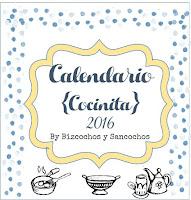 Calendario 2016 imprimible | http://bizcochosysancochos.blogspot.com/