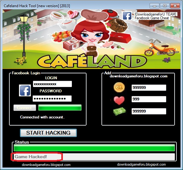 Cafeland Hack Cheat Game 2013 New Version Download