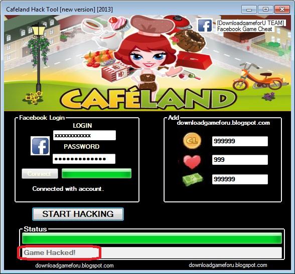 Cafeland new trainer hack
