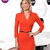 Rochie StarShinerS portocalie office midi tip creion din stofa