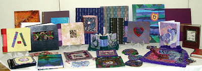 Robin Atkins, handmade books, decorative painted papers, bead embroidery