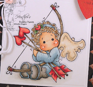 Tilda with Heart Arrows Card Kit