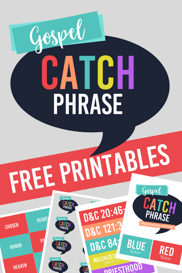 Nichelle Lora Designs: Gospel Catch Phrase - Priesthood Edition