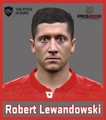 PES 2016 Robert Lewandowski Face by Ozy_96 PES MOD