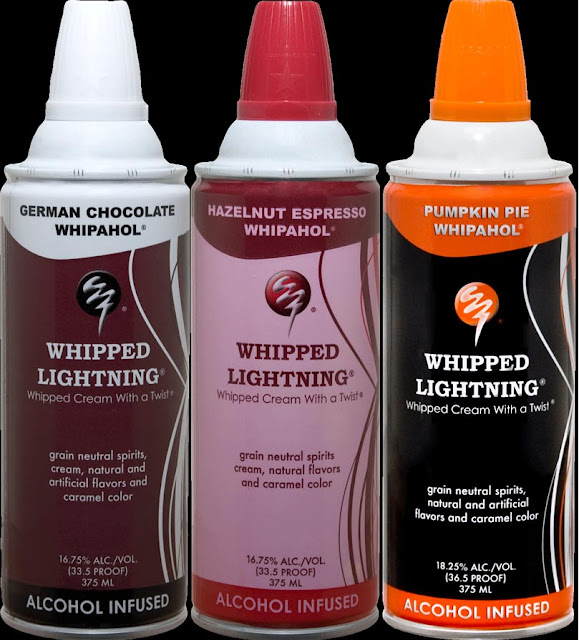 Alcohol Infused Whipped Cream In 11 Flavors. Whipped