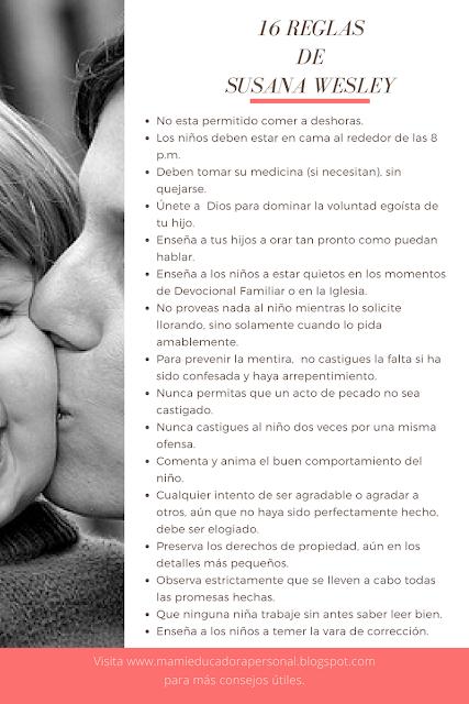 Susana Wesley y sus consejos de crianza