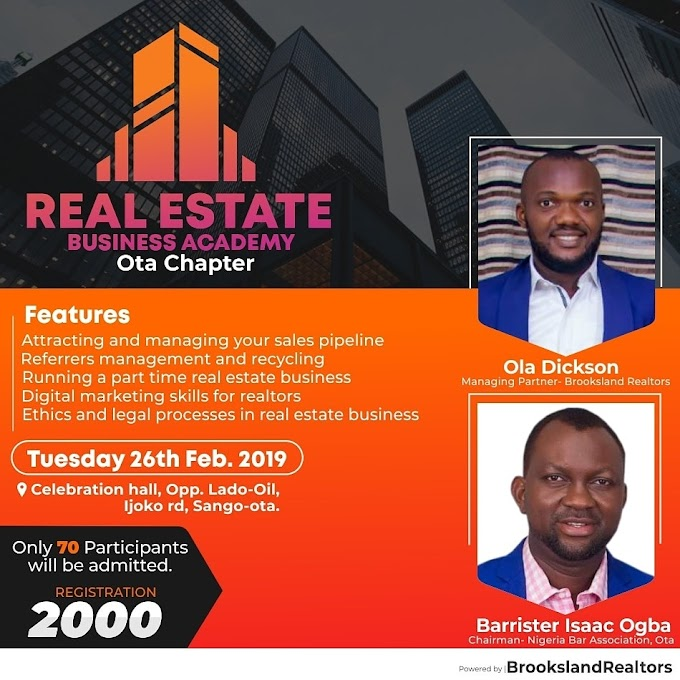 Real Estate Business Academy. Ota Chapter