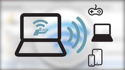 أسهل و أفضل طريقة لتحويل الحاسوب إلى موزع إشارة الويفي لأجهزة أخرى
