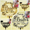 Cake Topper Acrylic Gold & Silver Motif BRIDE TO BE & CONGRATS GRAD