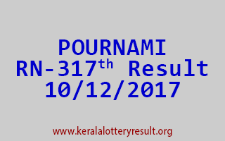 POURNAMI Lottery RN 317 Results 10-12-2017