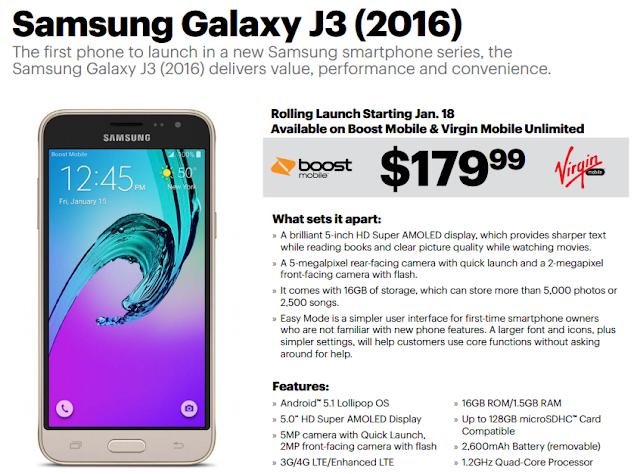 Boost Mobile Samsung Galaxy J3