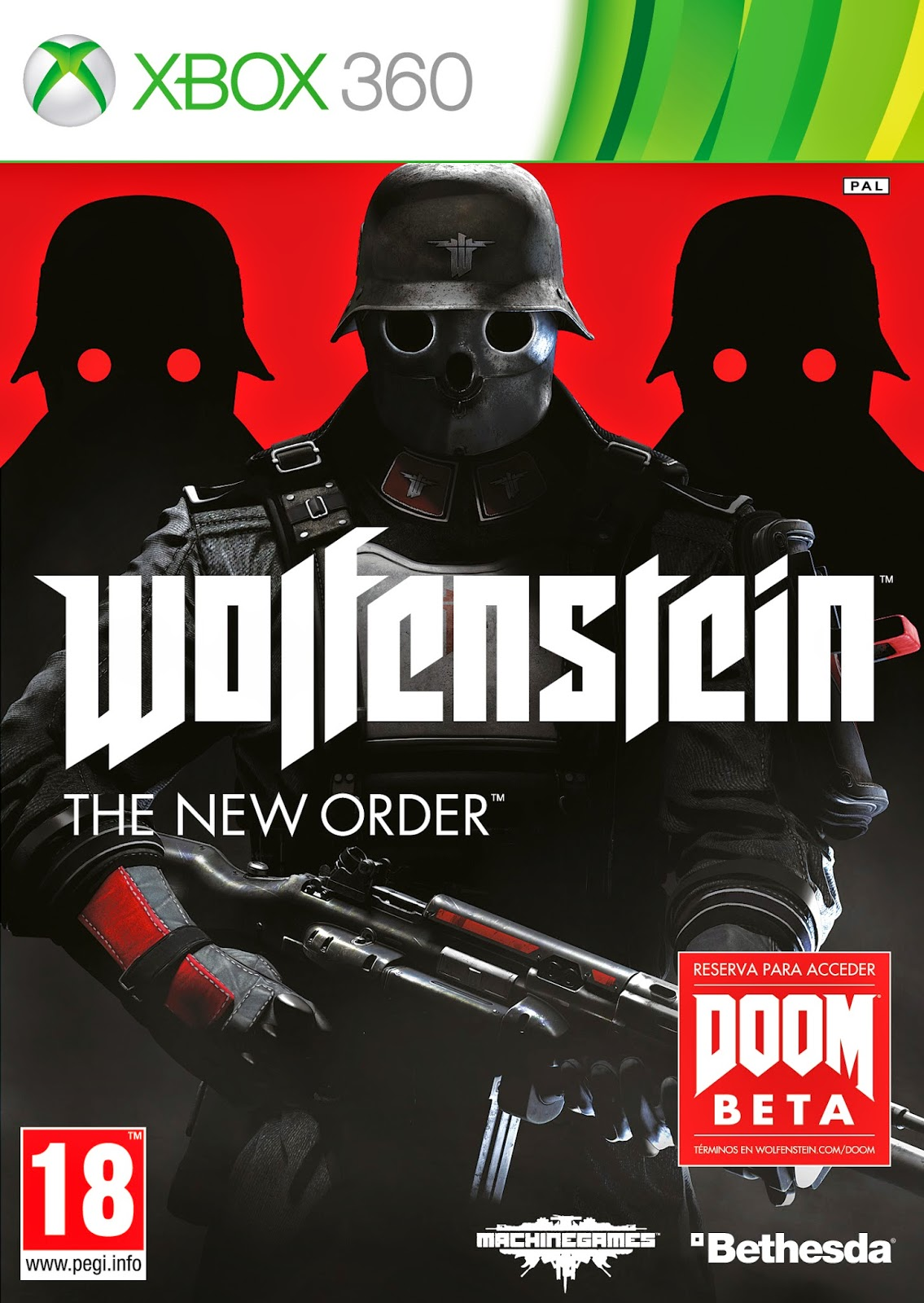 Cover Caratula Wolfenstein The New Order XBOX 360 ESPAÑOL