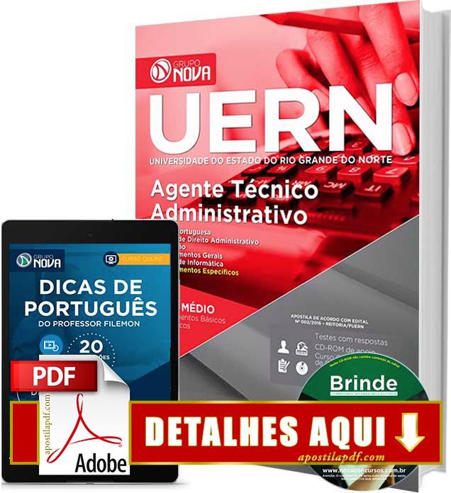 Apostila UERN 2016 Agente Técnico Administrativo Impressa