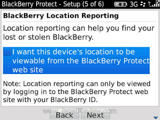 Aplikasi Anti maling Blackberry - izor Note's