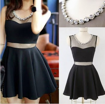 vestido top cropped
