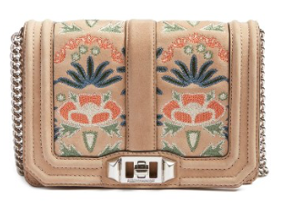 Rebecca Minkoff Small Love Embroidered Nubuck Crossbody