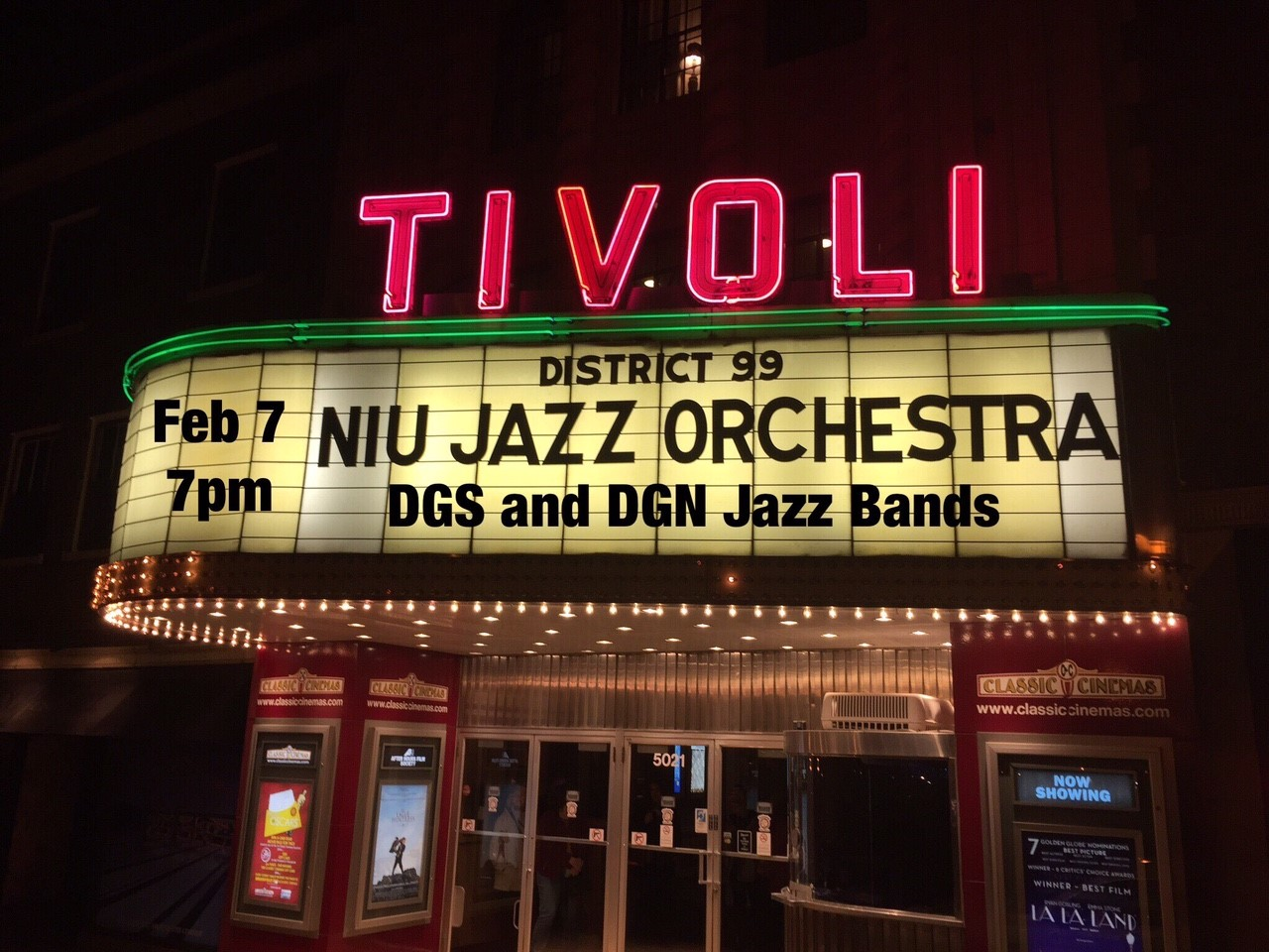 Tivoli Theatre In Downers Grove Il South High Fine Arts Niu D99 Jazz Bands Swinging At The