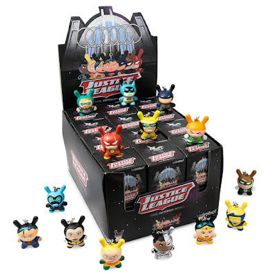 Justice League Dunny Keychain Series by Kidrobot x DC Comics