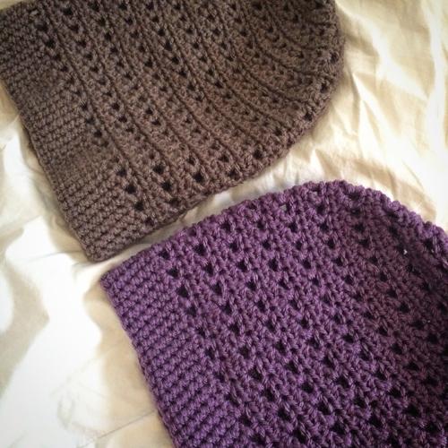 Crochet Striped Slouchy Beanie - Free Pattern