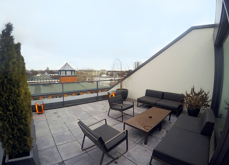 Euriental | fashion & luxury travel | Das Stue Berlin room terrace, Germany