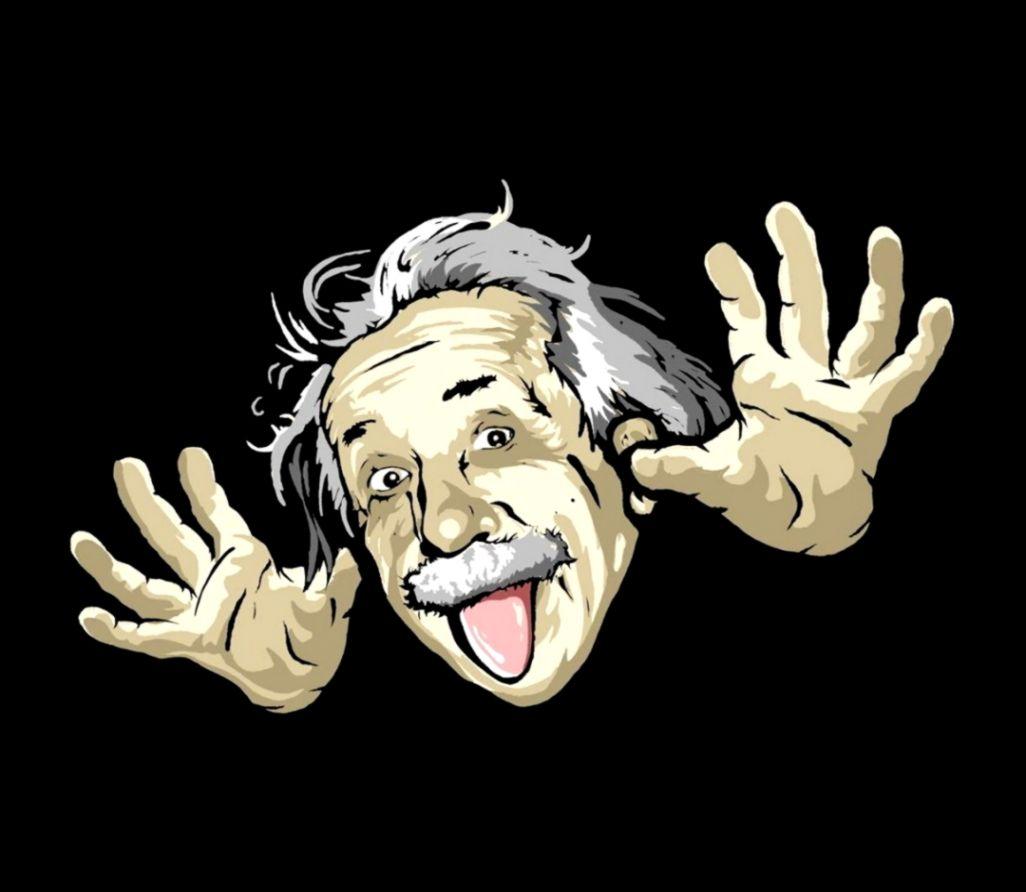 Funny Cartoon Albert Einstein Wallpapers Hd