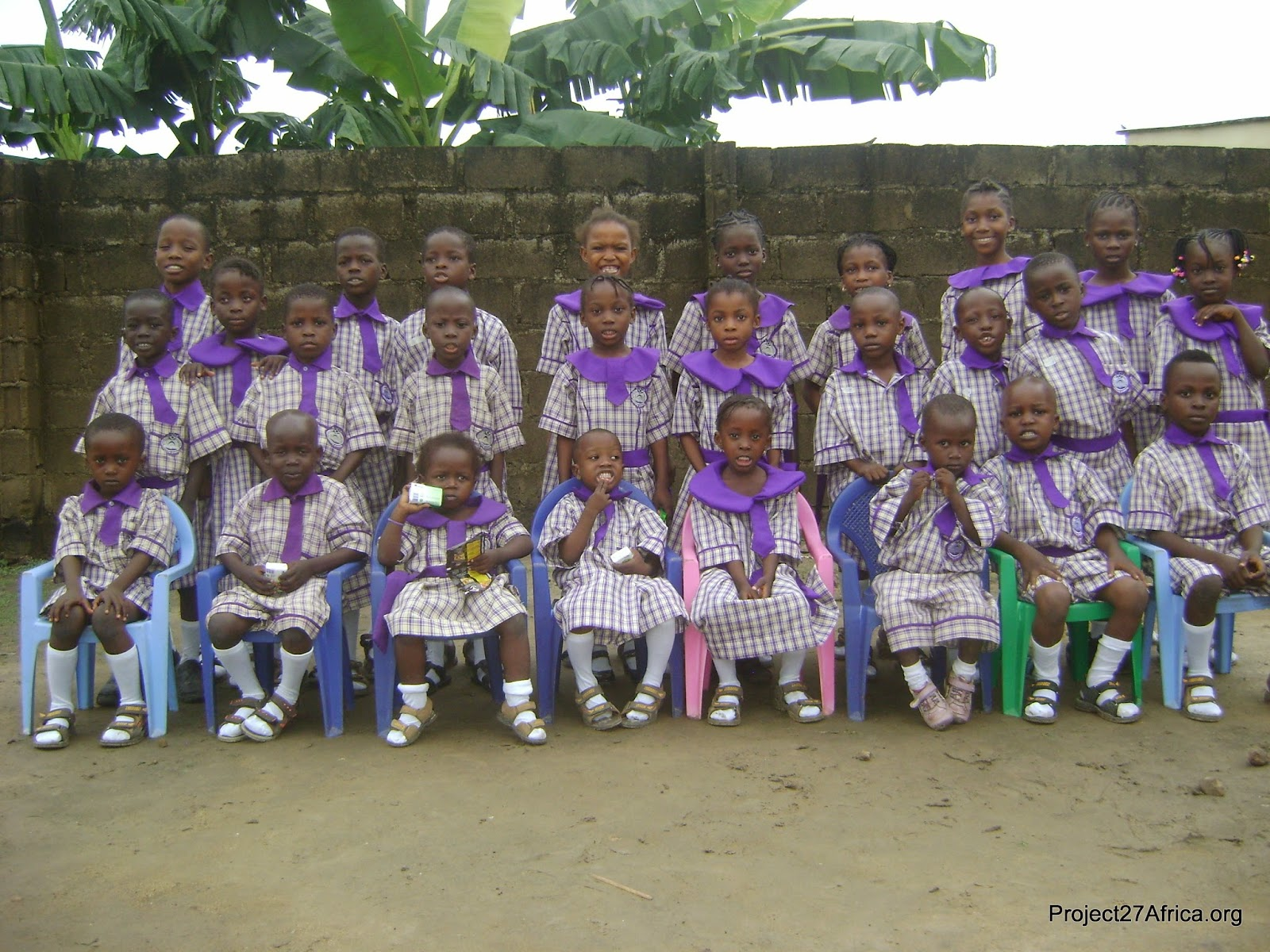 Pics: AY Comedian Donates Uniforms To Primary School Pupils
