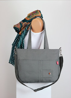 691db7bad8 Gray Bag Handmade Washable Double Adjustable Removable strap Two Big Pocket  Shoulder hang Bag Purse Canvas School Bag MORE COLORS AVAILABLE