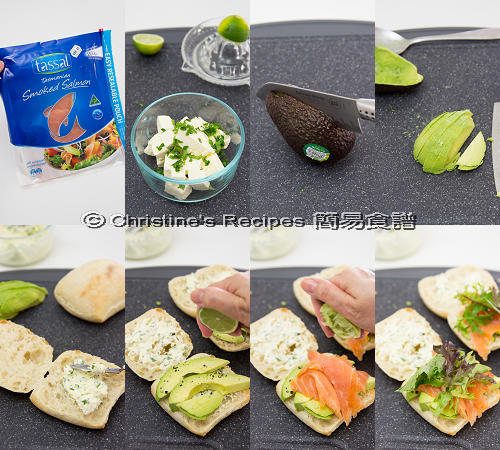Smoked Salmon with Cream Cheese Ciabatta Procedures