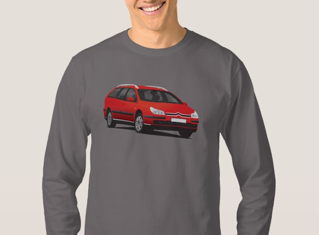 Citroën C5 Break t-shirts classic cars red