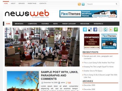 NewsWeb Free WordPress Theme