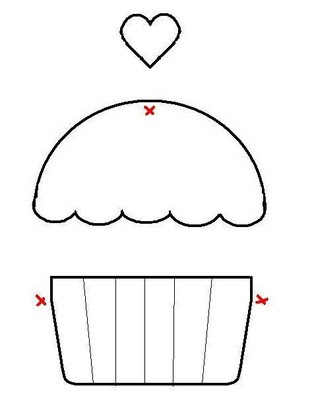 Dulce arteonline: Cupcake em patchwork
