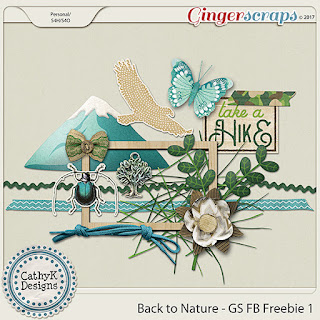Creative Team Annemarie for GingerScraps Back to Nature Free Daily Download for July CathyK Designs and Free Coordinating Gift