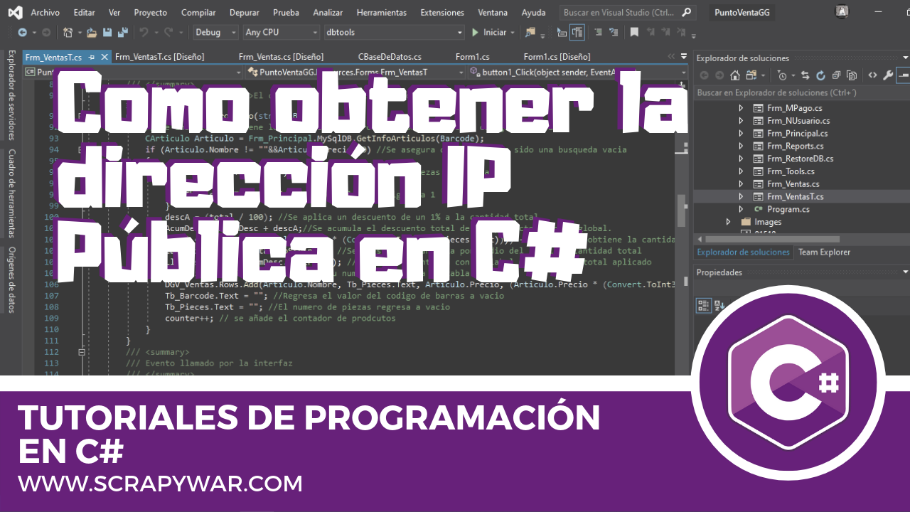 Obtener la dirección IP pública en C#
