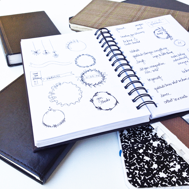 Journals with notes and sketches is where new ideas are born