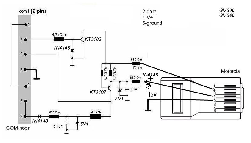 motorola gm340 schematic diagram