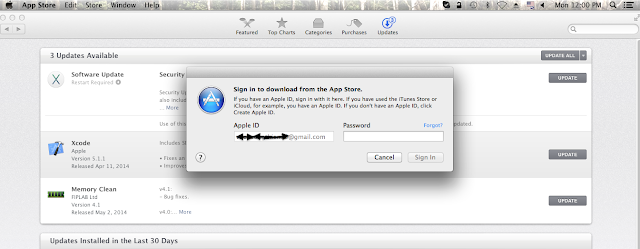 Can not update Apps from App Store as the Apple Id is grayed out